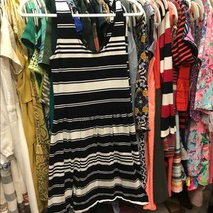 J crew Factory striped cotton dress xs